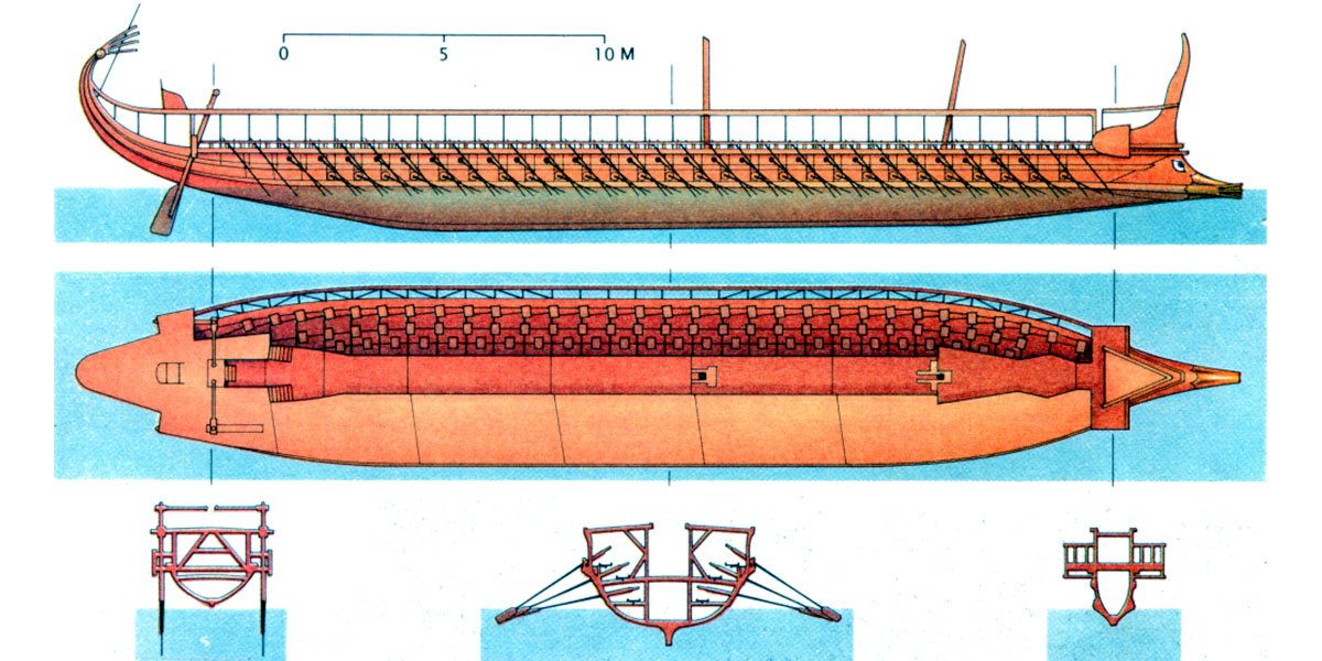Greek Trireme Dusek Models Museum Quality Wooden Ship
