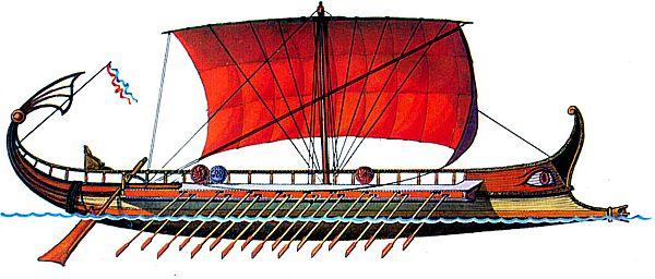 Древнегреческий корабль т и р